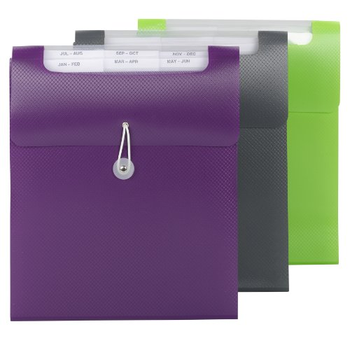 Smead Vertical Step Index Organizer, Letter Size, 1 Each, Color Will Vary (70918) (Accordian File Vertical)