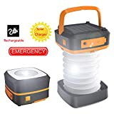 Camping Lantern, Trymie 3 in 1 Portable Solar Rechargeable LED Tent Lantern Lamp