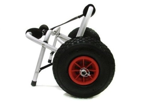 Aluminum Canoe And Kayak Transport Cart Dolly With Wheels Pnematic Tires Jon Boat Gear Trailer Carrier Trolley