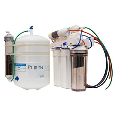 PristineHydro Under-Counter Alkaline Water Filter System — Unrivaled Proprietary 10-Stage Reverse Osmosis System for Certified 100% Pure, Deionized, Mineral Water — Eco-Friendly RO Water Filter System