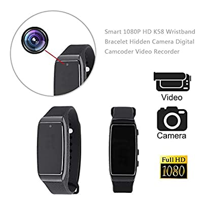 LiChiLan Bracelet Hidden Camera, Smart 1080P HD K58 Wristband Bracelet Hidden Camera Camcoder Video Recorder by LiChiLan