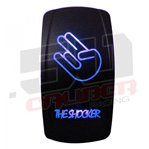 Rocker Switch ON/OFF Blue LED Backlit - The Shocker - UTV, Auto, Boat [5359-A4]
