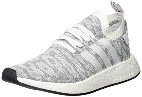 adidas Herren NMD_r2 Primeknit Sneaker Weiß (Footwear White/footwear White/core Black)