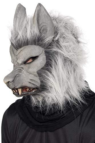 Smiffys Unisex Werewolf Mask, Grey, One Size, 24130