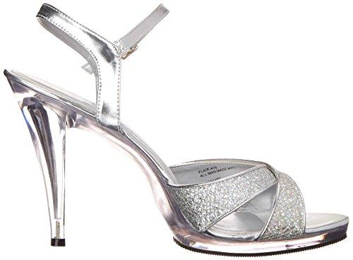 Transparent Multi Sandales Argent Femme Flair Pleaser Argent qY0gXw
