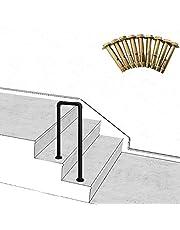ZzJj - Barandillas Interiores y Exteriores de 2 escalones, barandillas de Escalera de Tubo en U de Hierro Forjado Vintage, con Kit de Montaje de barandillas de jardín o Porche, tamaño Opcional
