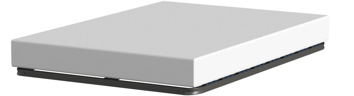 HOGAR24 Somier Multiláminas con Reguladores Lumbares, Sin Patas, Acero, 140x200cm