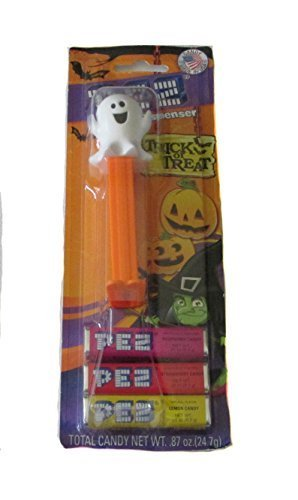 PEZ Candy 3 Pack & Glow in the Dark Halloween Witch Dispenser - Assorted Halloween Characters by PEZ Candy