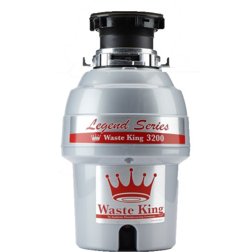 : Waste King Legend Series 3/4 HP Continuous Feed Garbage Disposal with Power Cord - (L-3200)