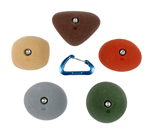 5 Medium Slopers | Climbing Holds | Mixed Earth Tones by Atomik Climbing Holds