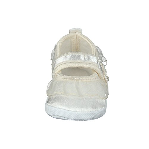 Omnia-Baby Festliche Babyschuhe Taufschuhe Lauflernschuhe Kinderschuhe, Satin Ecri