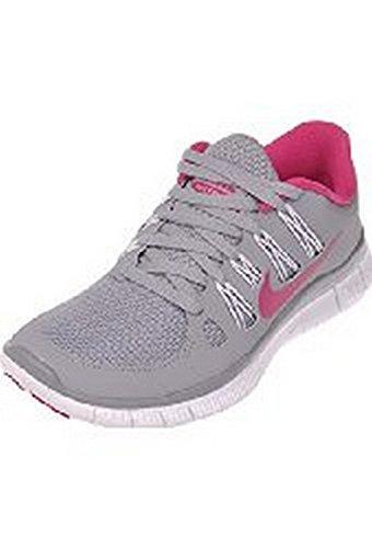 Womens Nike Free 5 5 5 5 5 5 5 5 5 5 059 010 Grigio Lupo / Rosa Vivo Bianco Taglia 10