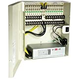 InstallerParts 18 Port DC12V 10Amps Power Supply Box, UL,OA-P12DC18PUL-10
