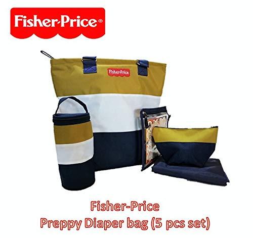 Fisher Price Preppy Diaper Bag Set, Green