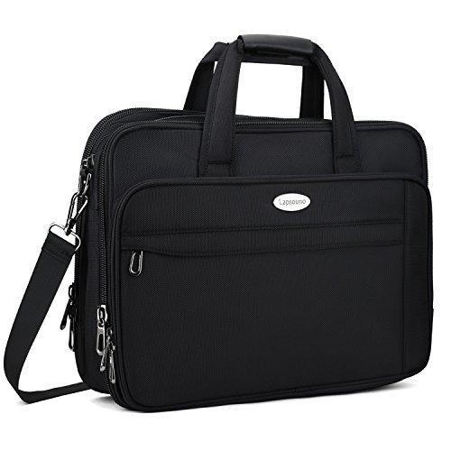 Expandable Laptop Computer Briefcase (17 Inch Laptop Bag, Expandable Large Capacity 17.3