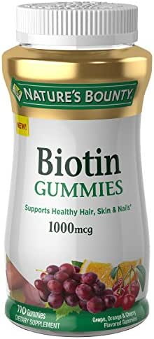 Vitamins & Supplements: Nature's Bounty Biotin Gummies