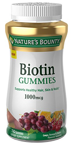 Natures Bounty Biotin, 110 Gummies, Fruit Flavored Gummy Vitamin Supplements for Adults