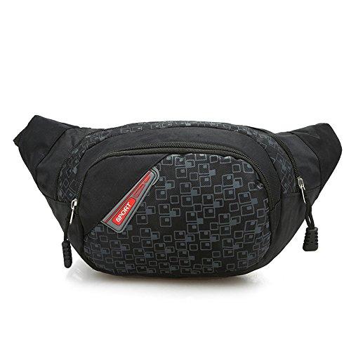 Waist Travel Belt Money Passport Wallet Pouch Ticket Bum Bag Black - 7