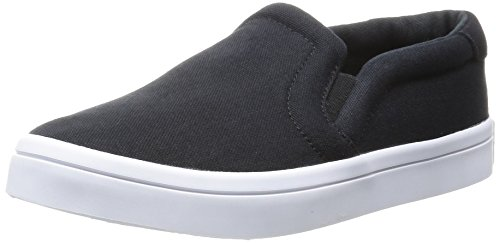 Adidas Womens Courtvantage Slip On W, Nero / Core Nero / Bianco Nero / Nero / Bianco