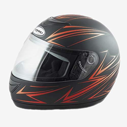 Integralhelm Schwarz Matt Helm Motorradhelm Quad Gesichtsschutz Klapphelm