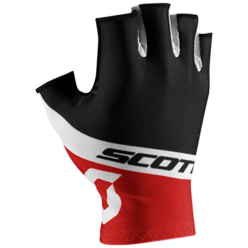 (Scott RC Team Short Finger Gloves - 241688 (Black/Fiery Red - M))