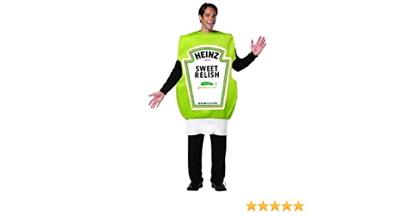 amazoncom heinz relish squeeze bottle adult costume one size fits most adults clothing