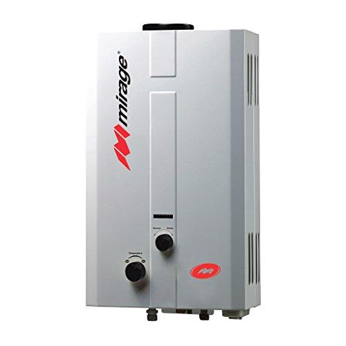 Calentador de agua instantáneo para 1 servicio 6 litros por minuto a gas NATURAL Flux6L, blanco