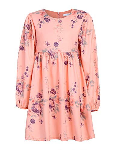 7a48d0d60a6 Arshiner Little Girls Long Sleeve Dress Floral Princess Vintage Dress
