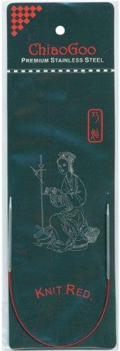 (ChiaoGoo 6009-2 9-Inch Red Line Circular Knitting Needles, 2/2.75mm)