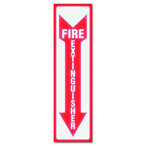 (Headline Sign 4793 Glow In The Dark Sign, 4 x 13, Red Glow, Fire Extinguisher)