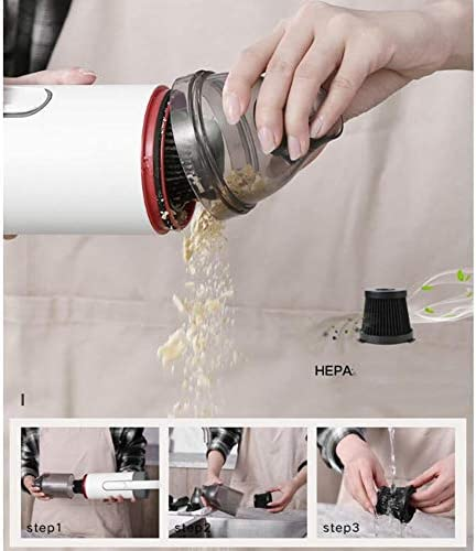 BABY-BAOBEI Aspirateur Sans Fil Portable Léger 100W Puissance Nominale, Batterie Lithium Rechargeable Batterie For Plancher Dur Tapis Pet Hair Car (montage Mural)