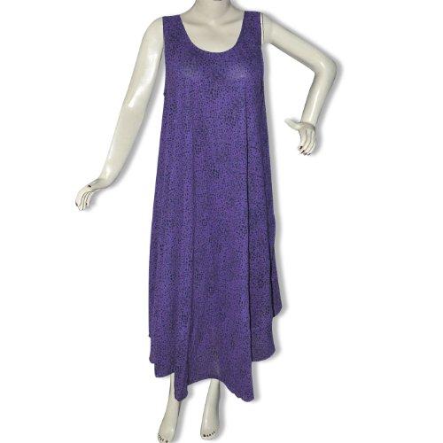 Purple Viscose Maternity Wear Long Gown for Women