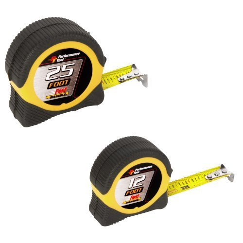 Performance Tool W5025BP 25-foot and 12-foot Tape Measure Combo by Performance Tool B00PUTHYIM | Wirtschaft