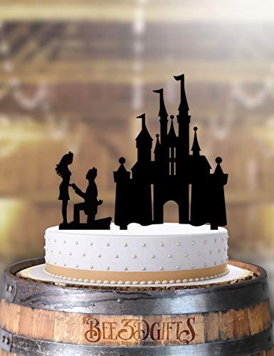 Castle Proposal Wedding Cake Topper