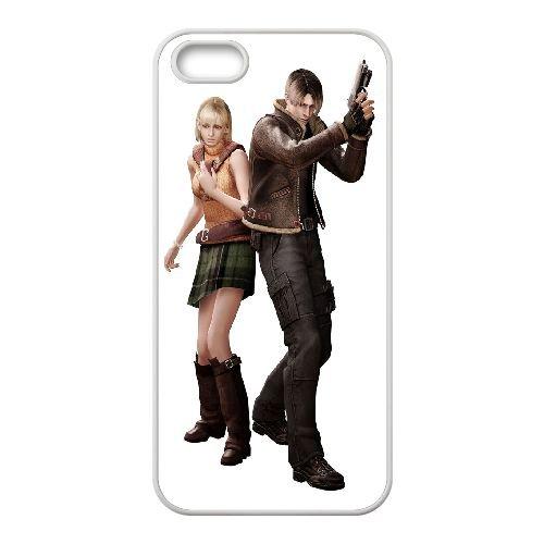 Ashley And Leon Resident Evil coque iPhone 5 5S Housse Blanc téléphone portable couverture de cas coque EBDOBCKCO17397