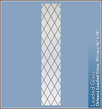 Orleans Black Leaded Glass Privacy Static Cling Window Film - 16 in x 78 in - Faux Etched Glass