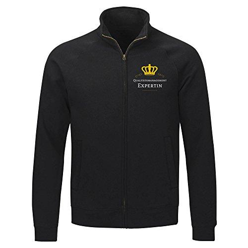 Hasta 2xl Sudor S camiseta En La Experto Gestión Chaqueta Gr De Calidad Negro Damas 7OrwRn7q