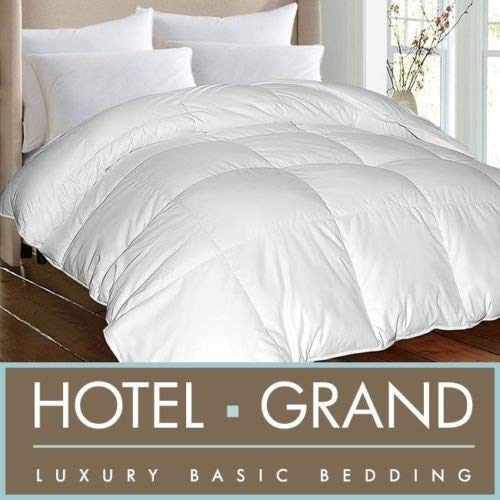 Hotel Grand Oversized Luxury 1000 Thread Count Egyptian Cotton Down Alternative Comforter (Twin) (Twin Hotel Grand Comforter)