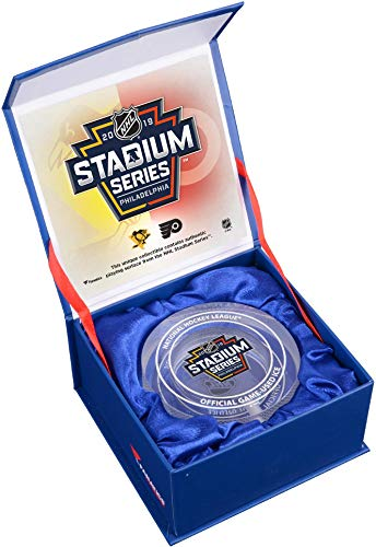 2019 NHL Stadium Series Pittsburgh Penguins vs. Philadelphia Flyers Crystal Puck - Filled with Ice From The 2019 Stadium Series - Fanatics Authentic Certified