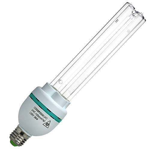 UV Germicidal Light Bulb 36 Wattage Self-Ballast E27 110V Screw Socket Lamp (UVC with Ozone Replace Bulb) (Best Light Bulb Wattage)