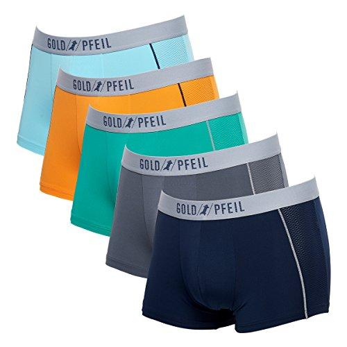 - Feelvery Men's Cool Mesh Flex-Fit Stretch Boxer Brief Underwear (5-Pack) - Medium