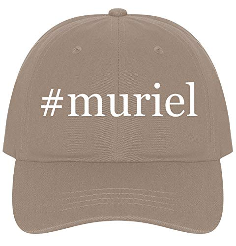 The Town Butler #Muriel - A Nice Comfortable Adjustable Hashtag Dad Hat Cap, Khaki