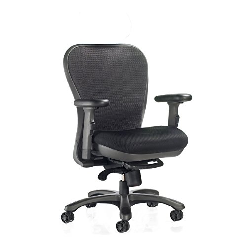 - CXO Ergonomic Executive Mid Back Task Chair in Black (Black)