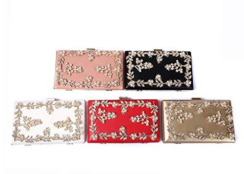 Para color Alta Noche Bolso Embrague Diamantes Conjunto De 01 Moda Gama La 04 Floral Con Perlas Cena 6wxYF5q