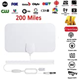 Leoie 200 Mile Range Antenna TV Digital HD Skywire 4K Antena Digital Indoor HDTV 1080P with Signal Amplifier