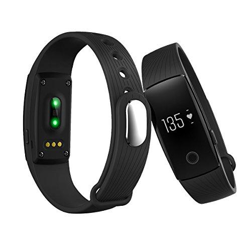 Tincint id107 Herzfrequenz Monitor Bluetooth Smart Watch Armband Sleep Activity Tracker/Kalorienzähler Intelligente Armband Gesundheit Fitness Tracker Sport Uhr für Android Smartphone iOS iPhone, schwarz