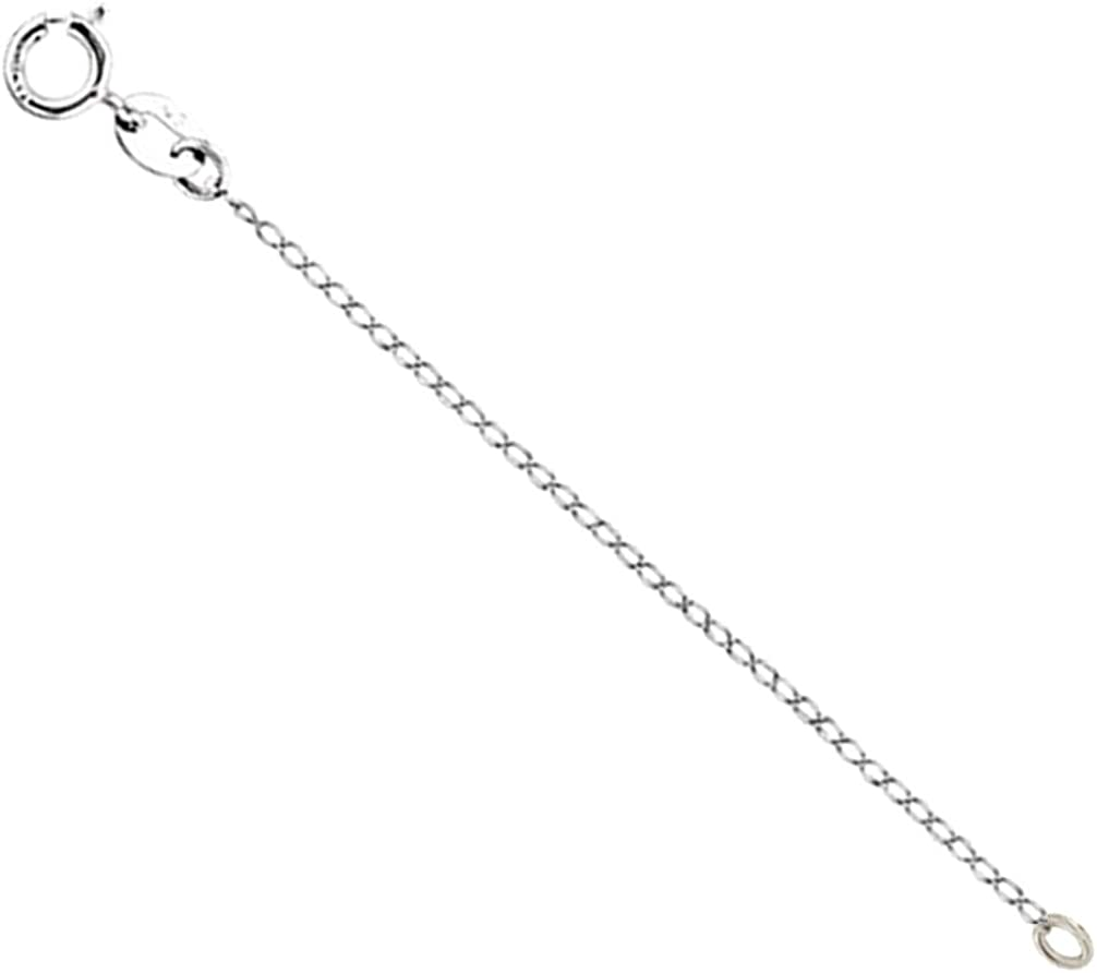 """Solid .925 Sterling Silver Necklace Extender Safety Chain 2/"""" Inches FREE POST"""