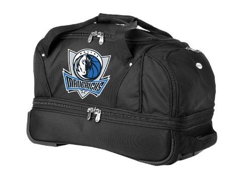 Black Dallas Mavericks Frame (NBA Dallas Mavericks Denco 22-Inch Drop Bottom Rolling Duffel Luggage,)