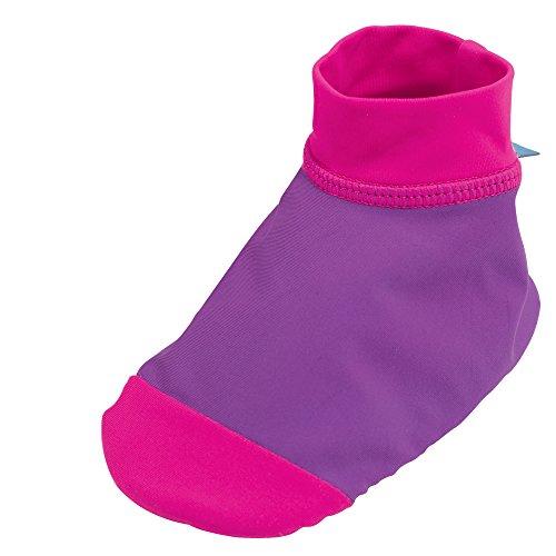 Sun Smarties Baby-Girls UPF 50+ Non-Skid Sand and Water Swim Socks Small Purple