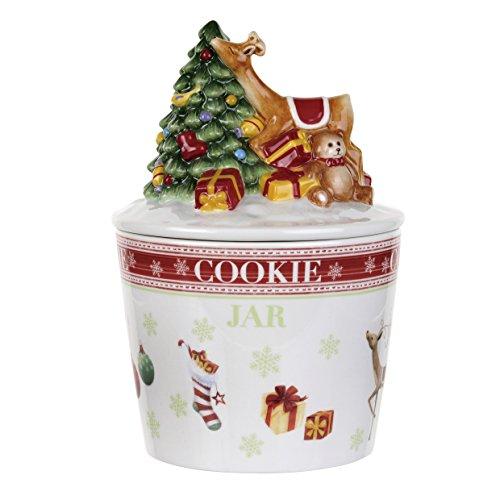 Spode Christmas Jubilee Figural Cookie Jar